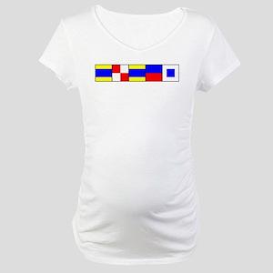 DUDES Flag Maternity T-Shirt