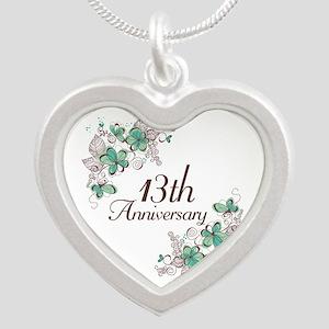 13th Anniversary Keepsake Silver Heart Necklace