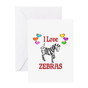 Zebra Greeting Cards Cafepress