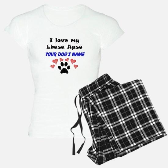 Custom I Love My Lhasa Apso Pajamas