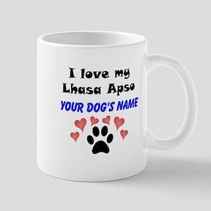 Custom I Love My Lhasa Apso Mug