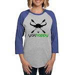Yakhappy logo dark Womens Baseball Tee