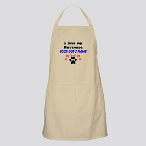Custom I Love My Havanese Apron