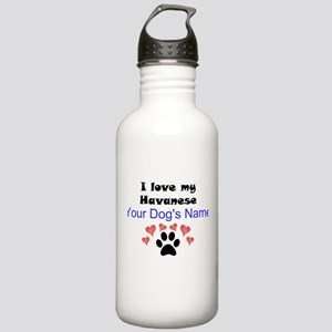 Custom I Love My Havanese Water Bottle