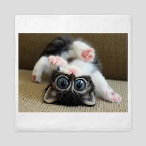 Goofy Kitten liquify Queen Duvet