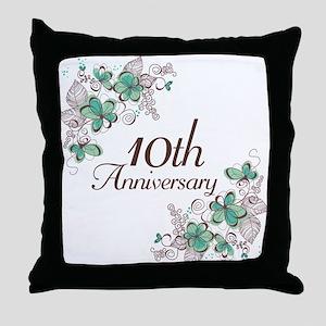 10th Anniversary Keepsake Throw Pillow