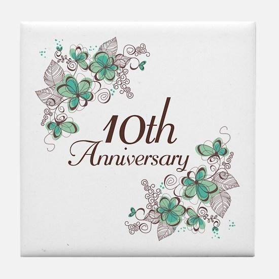 10th Anniversary Keepsake Tile Coaster