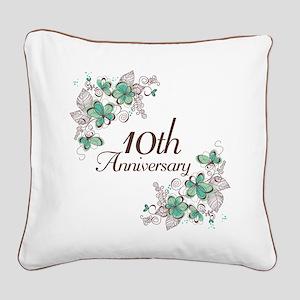 10th Anniversary Keepsake Square Canvas Pillow