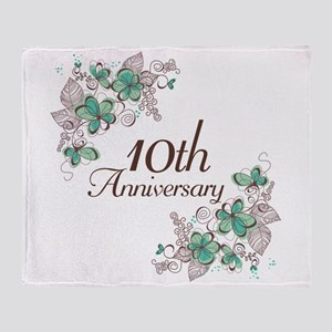 10th Anniversary Keepsake Throw Blanket