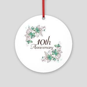10th Anniversary Keepsake Ornament (Round)
