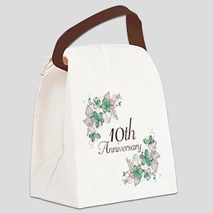 10th Anniversary Keepsake Canvas Lunch Bag