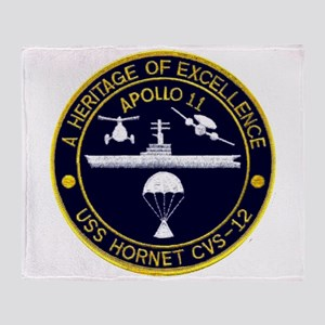 USS Hornet Apollo 11 Throw Blanket