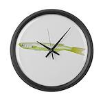 Silverside minnow fish t Large Wall Clock