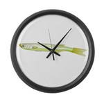 Silverside minnow fish t Large Wall Clock
