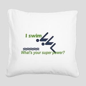 iSwim Square Canvas Pillow
