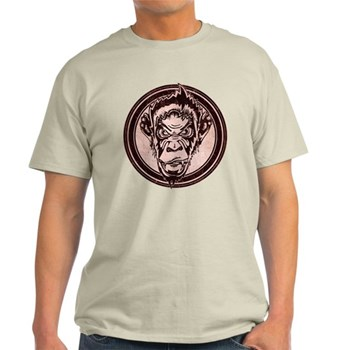 Distressed Wild Chimp Stamp Light T-Shirt