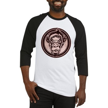 Distressed Wild Chimp Stamp Baseball Jersey
