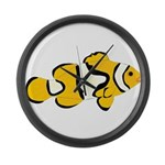 Clownfish t Large Wall Clock