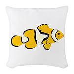 Clownfish t Woven Throw Pillow