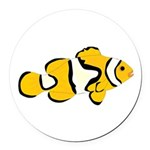 Clownfish t Round Car Magnet