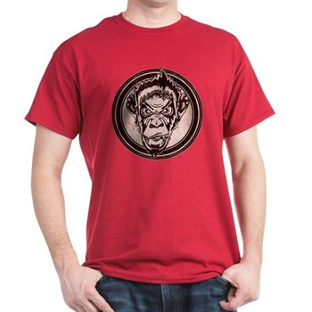 Distressed Wild Chimp Stamp Dark T-Shirt