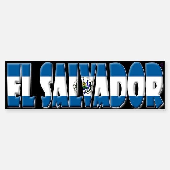 Word Art Flag of El Salvador Bumper Bumper Bumper Sticker