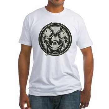 Distressed Wild Lizard Stamp Fitted T-Shirt