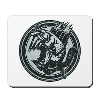 Distressed Wild Piranha Stamp Mousepad