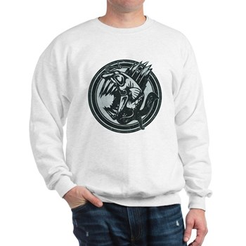 Distressed Wild Piranha Stamp Sweatshirt