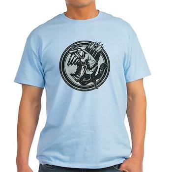 Distressed Wild Piranha Stamp Light T-Shirt