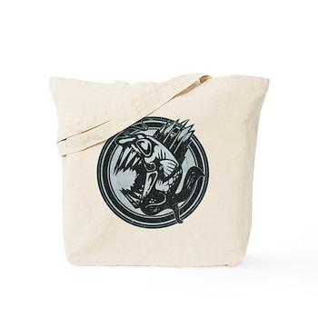 Distressed Wild Piranha Stamp Tote Bag