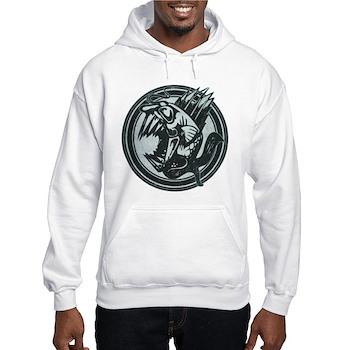Distressed Wild Piranha Stamp Hooded Sweatshirt