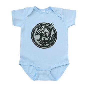 Distressed Wild Piranha Stamp Infant Bodysuit
