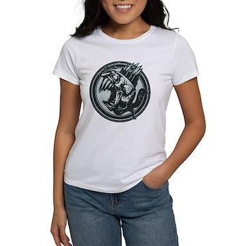 Distressed Wild Piranha Stamp Women's T-Shirt