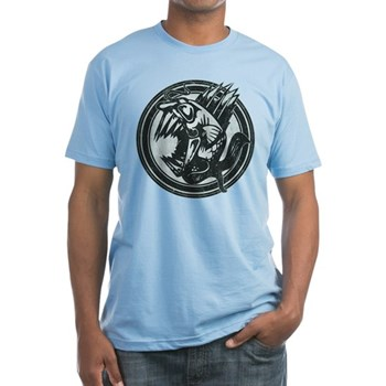 Distressed Wild Piranha Stamp Fitted T-Shirt