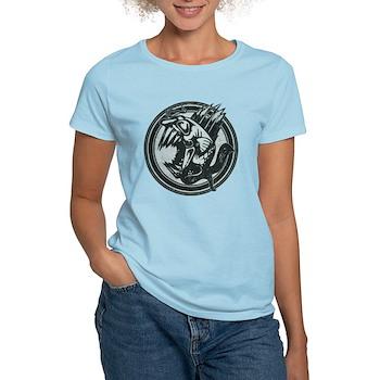 Distressed Wild Piranha Stamp Women's Light T-Shir