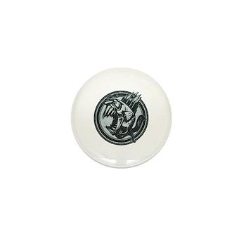 Distressed Wild Piranha Stamp Mini Button