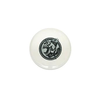 Distressed Wild Piranha Stamp Mini Button (100 pac