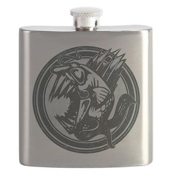 Distressed Wild Piranha Stamp Flask