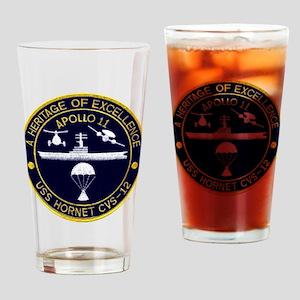 USS Hornet Apollo 11 Drinking Glass