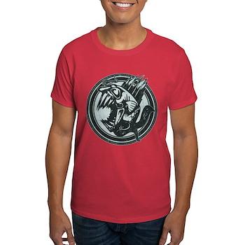 Distressed Wild Piranha Stamp Dark T-Shirt