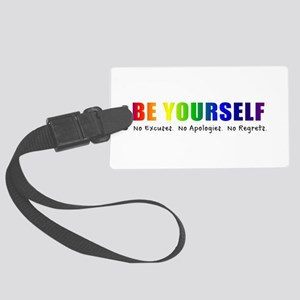 Be Yourself (Rainbow) Large Luggage Tag