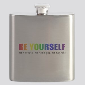 Be Yourself (Rainbow) Flask