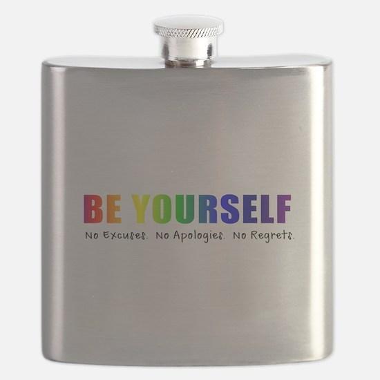 Be Yourself (Rainbow) Flask