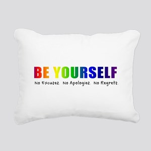 Be Yourself (Rainbow) Rectangular Canvas Pillow