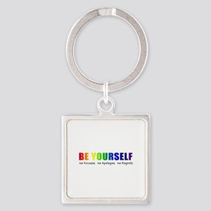 Be Yourself (Rainbow) Square Keychain