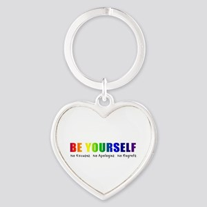Be Yourself (Rainbow) Heart Keychain