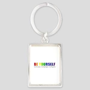 Be Yourself (Rainbow) Portrait Keychain
