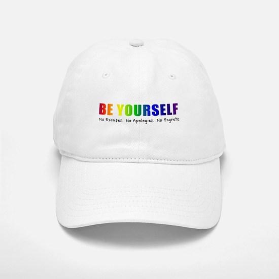 Be Yourself (Rainbow) Baseball Baseball Cap