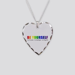 Be Yourself (Rainbow) Necklace Heart Charm